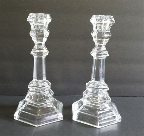 3941 l candle holder co set of 2 lead 8 inch plymouth