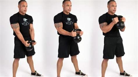 kettlebell curl bicep workout arms standing biceps kettle any curls workouts muscle build weight performing re guns naturally