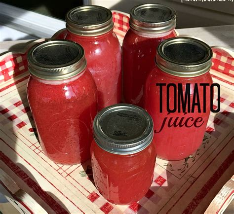 tomato juice canning recipe tomatoes juicing fresh health ways point there food