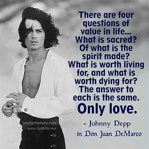 Four Questions...Johnny Depp in Don Juan DeMarco ...