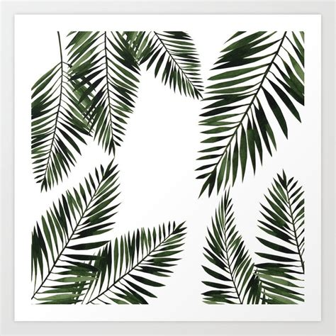 Prints are 8.5 x 11. Watercolor tropical palm leaves Art Print by lavieclaire | Society6