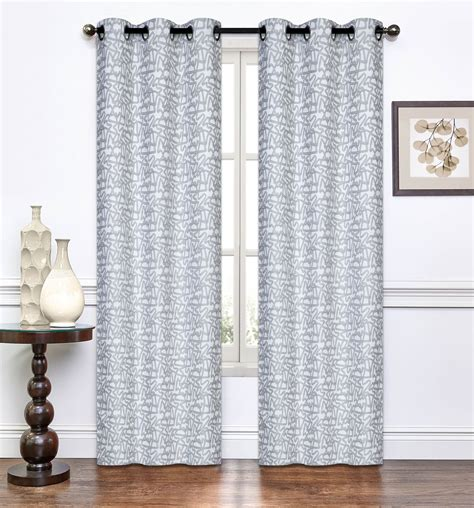 pair of light gray window curtain panels w