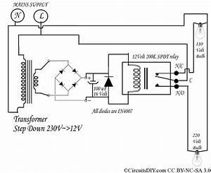 220 Volt To 110 Volt Auto Bulb Changer Circuit  U2013 Circuits Diy