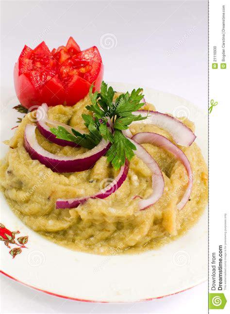 aubergine cuisine salade d 39 aubergine cuisine roumaine photo stock image
