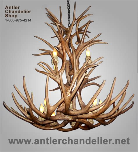 Antler Chandelier Shop by Reproduction Antler Mule Deer Chandelier 12 Lights