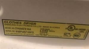 Samsung Dryer Tech Sheet  Service Manual  Parts List Diagram