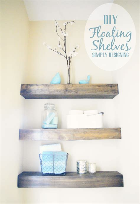 diy floating shelves   measure cut  install