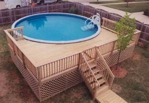 pool deck designs for a 24 round above ground plans