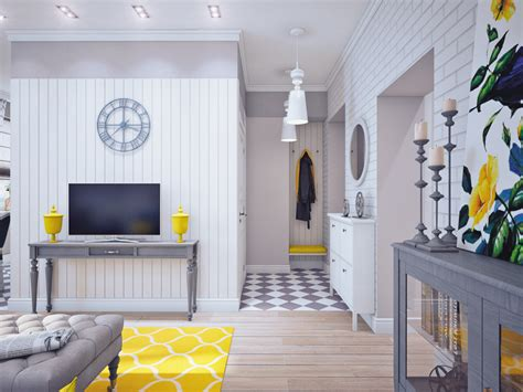 house and home interiors blue and yellow home decor