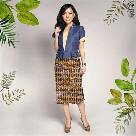 model baju batik wanita terbaru  modern formal