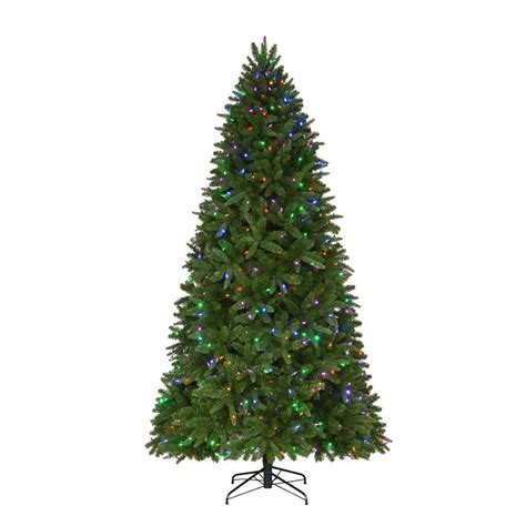 home accents 9 ft pre lit led nevada pe pvc set artificial tree
