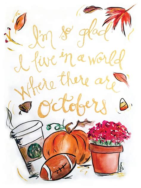 October Quote Print | Etsy | October quotes, Fall ...