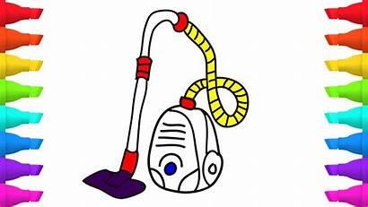 Vacuum Cartoon Cleaner Draw Cleaners Coloring Cartoons
