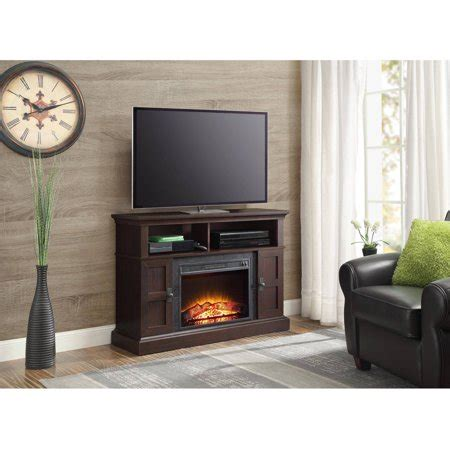 whalen media fireplace   home television stand
