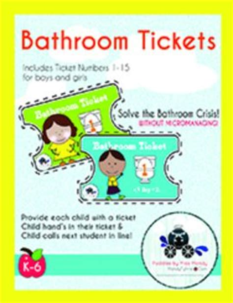 Bathroom Pass Ideas For Kindergarten by Free Bathroom Pass Tickets Use These Bathroom Pass