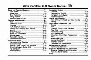 2005 Cadillac Xlr Owners Manual