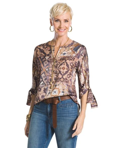 chicos white blouse chico 39 s 39 s tribal patchwork tunic print tunics