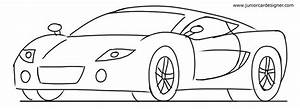 Sports Cars Drawings Side View
