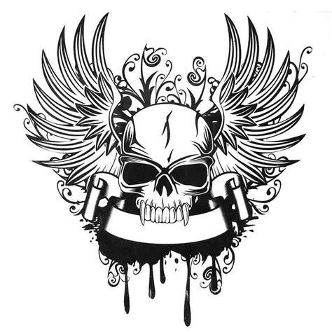 Dessin De Tatouage De Tete De Mort Tatouage
