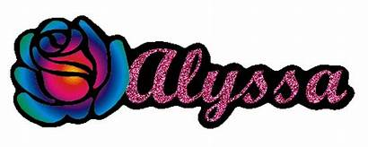 Alyssa Graphics Names Letters Bubble Glitter Animations