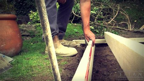 How To Lay Base For Shed by How To Lay A Base For A Garden Shed Or Log Cabin