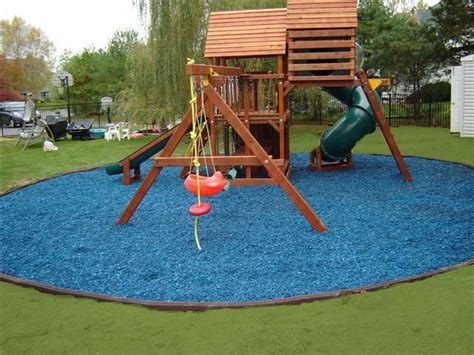 Blue Rubber Mulch! I So Want To Do This With The Kids Play