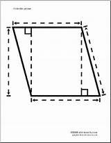 Parallelogram Coloring Abcteach sketch template