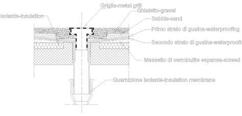 Ghiaia Dwg by Bocchetta Scarico Tetto Piano Free File Dwg Dwglab