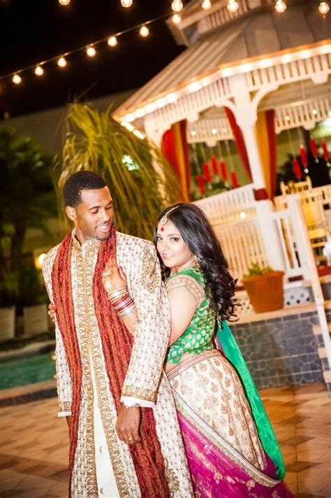 afroeast asian indian fusion love interracial wedding