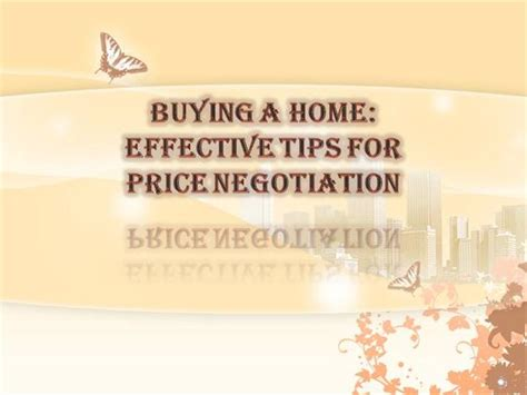 buying  home effective tips  price negotiation