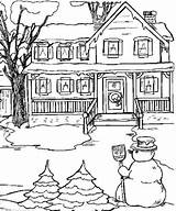 Coloring Snow Printable sketch template