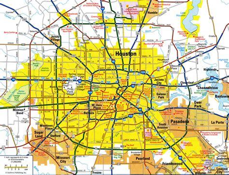 highways map  houstonfree maps