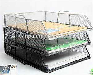 2015 office stackable wire mesh file tray desk a4 document With stackable document trays
