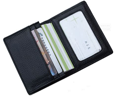 Black Genuine Leather Credit Card Wallet Man Card Holder Citibusiness Card Rules Real Estate Business Visiting App Store Reader Scanner For Desktop Iphone 5 Christmas Messages Samples Requirements Realtors Clear Stock