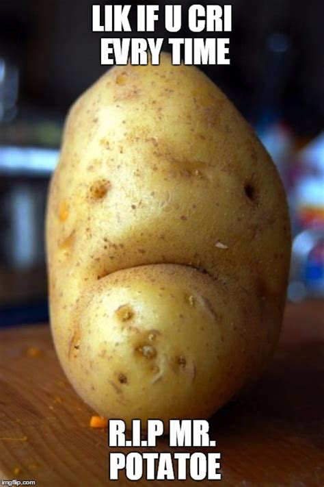 Potatoes Meme - sad potato imgflip