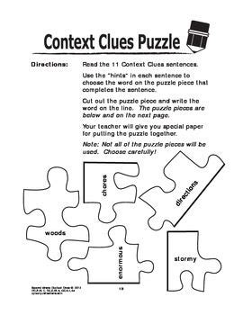 context clues worksheets task card bundle 2nd grade language practice language context