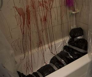 Murder Scene Halloween Decor | Fake blood, Duct tape and ...