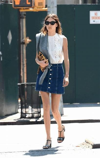 Skirt Alexa Chung Chic Street Denim Cool