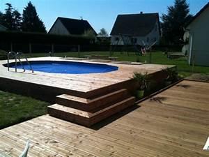 piscine hors sol semi enterree piscine With exceptional terrasse en bois pour piscine hors sol 2 enterrees hors sol semi enterrees des piscines bois