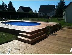 infos sur photo piscine hors sol avec terrasse bois arts et voyages - Piscine Hors Sol Avec Terrasse