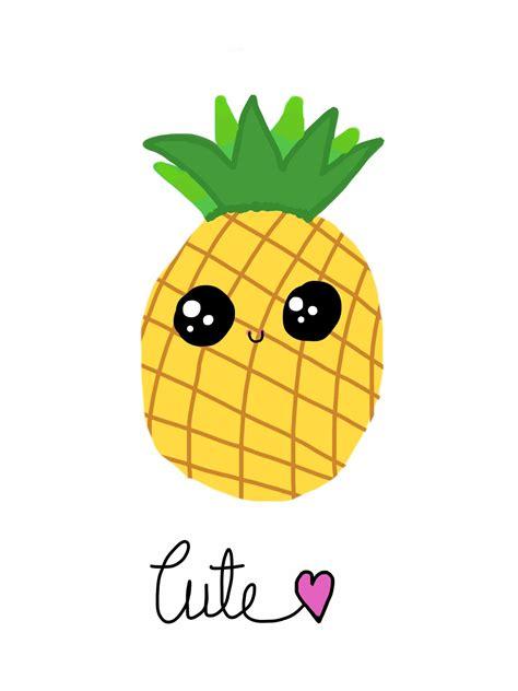kawaii clipart a pineapple by tanvi singh