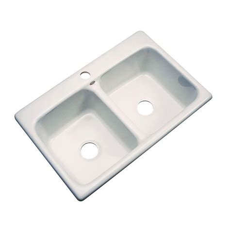 thermocast cambridge drop in acrylic 33 in 5 hole double