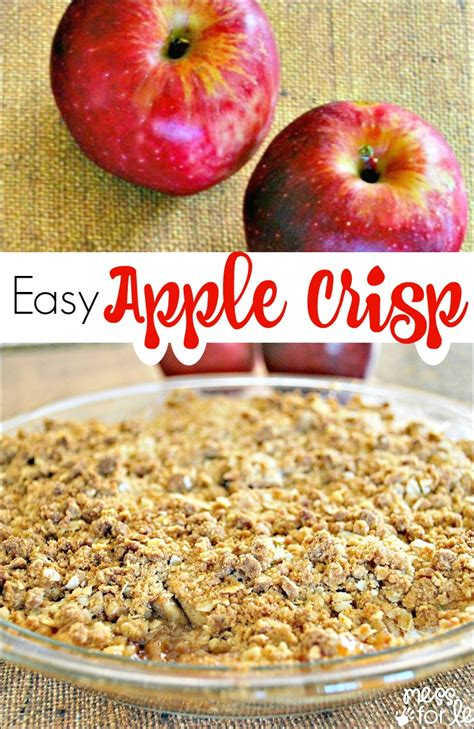 and easy apple recipes easy apple crisp mess for less