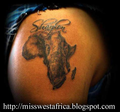 Miss West Africa Africa Tattoos Are In Fashion, No Lie