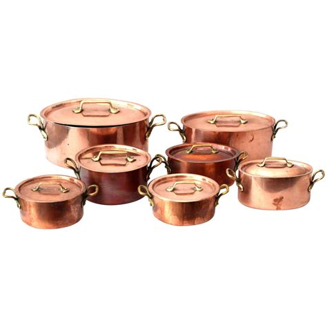 copper pots for cooking e dehillerin copper cooking pots at 1stdibs