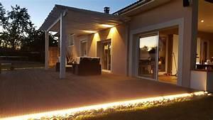terrasse bois eclairage wrastecom With eclairage pour terrasse en bois exterieur