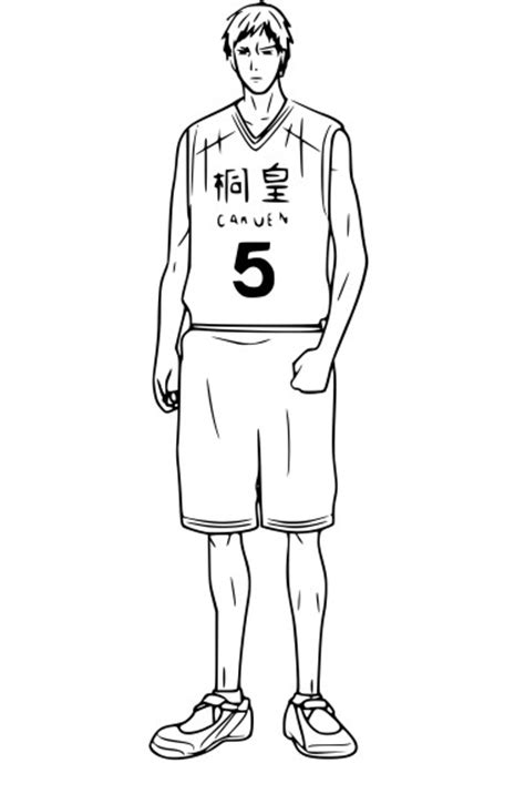 coloriage daiki aomine kurokos basket  imprimer