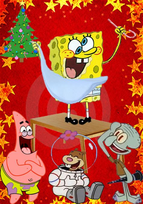 spongebob at the christmas party embarrassing picture of spongebob at the wallpapers9