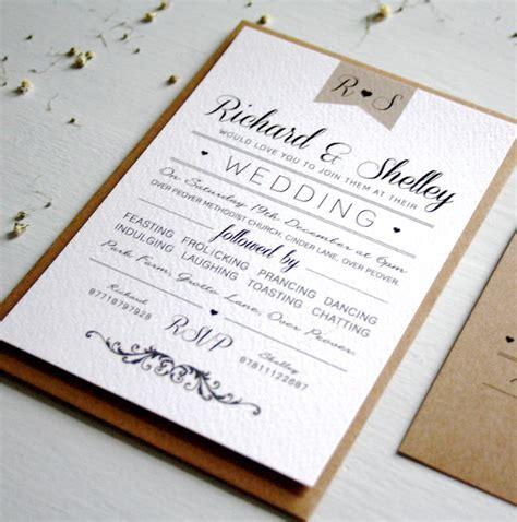 elegant type vintage wedding invitation by rodo creative