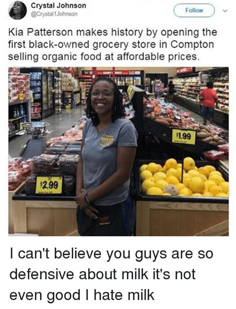 Grocery Meme - crystal johnson 1 johnson follow kia patterson makes history by opening the first black owned